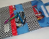 Blue Disney Cars Childs Ready-to-Go Travel Crayon tote with crayons - shipping included