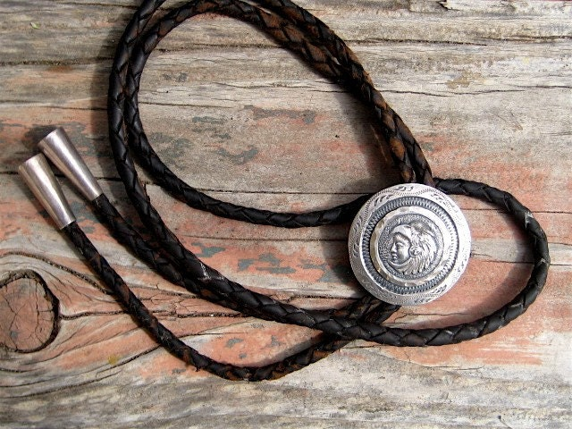 Vintage Sterling Mexican Bolo Tie