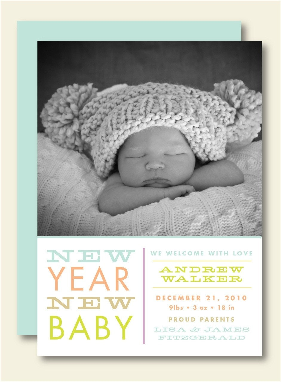 New Year Birth Announcement – New Years Birth Announcements