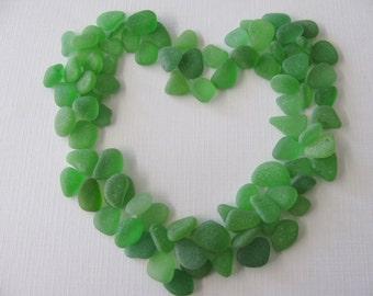 Loose Green Seaglass, Beach Glass, Jewelry Supply, Genuine Sea Glass, Jewelry Making