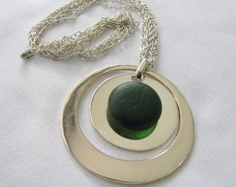 Sea Glass Pendant Necklace Sea Glass Jewelry, Beach Glass Jewelry