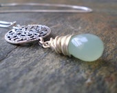 SALE Handmade Calla Necklace - Sterling Silver and Chalcedony