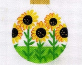 Sunflowers in a Row Needlepoint Ornament - Jody Designs   B8-03