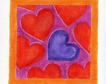 Colored hearts - Bright - Jody Designs Needlepoint - S14