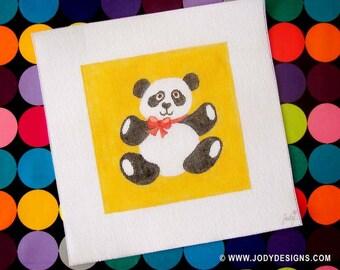 Panda Needlepoint  7 x7  Square - Jody Designs   S18