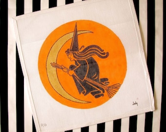 Witch Needlepoint - Jody Designs