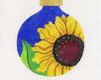 Gaby's Sunflower Needlepoint Ornament - Jody Designs    B8/99