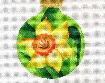 Daffodil Needlepoint Ornament - Jody Designs   B66 Daffodil