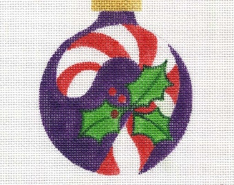 Candy Cane Needlepoint Ornament - Jody Designs B84A