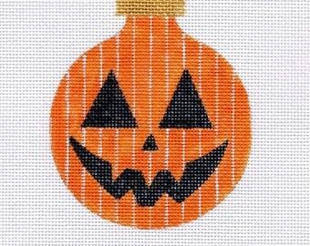 Pumpkin Needlepoint Ornament - Jody Designs B146