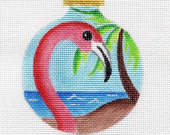 Flamingo Needlepoint Ornament - Jody Designs B75