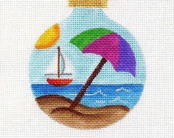 Beach Needlepoint  Ornament - Jody Designs  B89