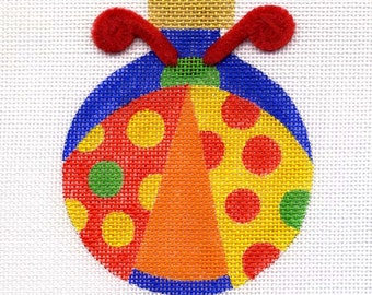Ladybug with Yellow and Red Dots needlepoint ornament - Jody Designs  BL3
