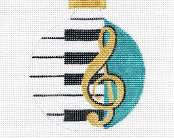 Piano Musical Needlepoint Ornament      B158