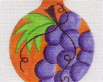 Grapes Needlepoint Ornament - Jody Designs  B9/02