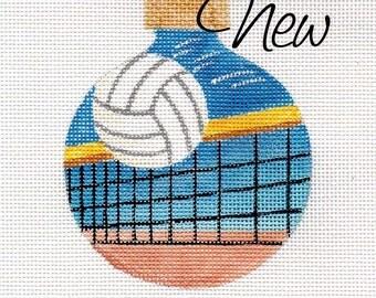 Volleyball and Net - Jody Designs Needlepoint ornament - B195