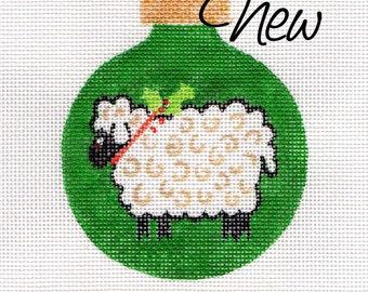 Green Lamb Jody Designs Needlepoint Ornament      B203A Little Lamb - green