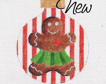 Gingerbread Girl Needlepoint Ornament         B210