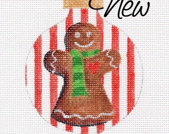 Gingerbread Mom Needlepoint Ornament - Jody Designs        B209