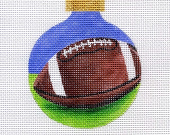 Football Needlepoint Ornament - Jody Designs   B137