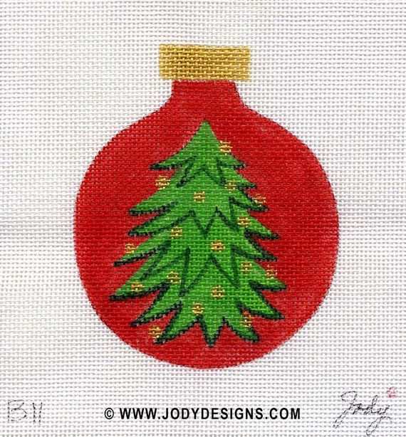 Tree with Gold-Red Background - Jody Designs   B11