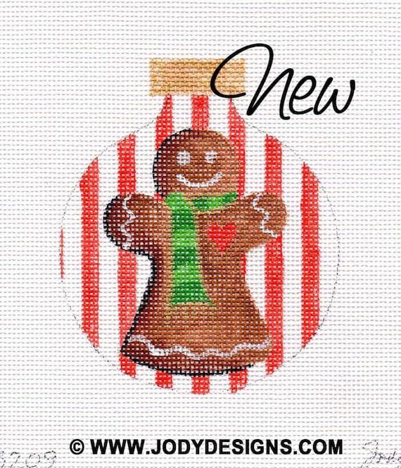 Gingerbread Mom Needlepoint Ornament - Jody Designs        B209