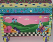 custom hand painted treasure chests- MADE TO ORDER