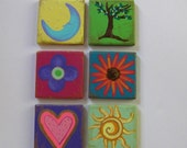 hand painted magnets