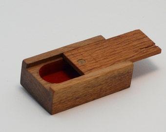 Mini Black Walnut & Oak Box