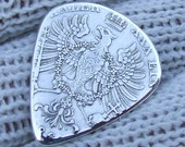 Custom Coin Guitar Pick - Handmade from an 1860 Antique German One Thaler Silver Coin