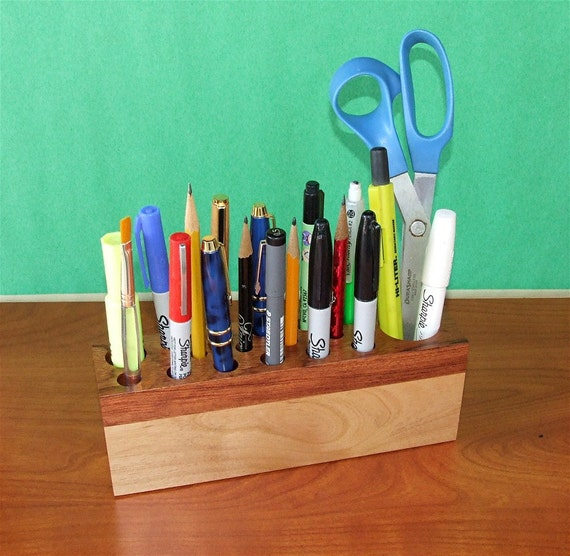Handmade Organizing Caddie for your Desktop, or Crafts,Cosmetics, Artist paint brushes, Etc.