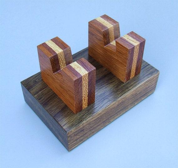 Wood Business Card Holder - Handmade Exotic Wood Premium Card Holder