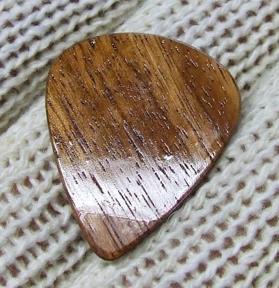 Wood Guitar Pick - Handmade Exotic Amazon Rosewood Premium Guitar Pick