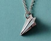 Tiny Paper Plane Pendant/Necklace