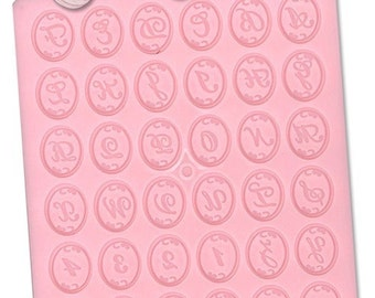 Padico Deco Sweets Mould / Mold. Lettering and numbering mould. Alphabets A to Z, Numbers 0 to 9 in one mold.
