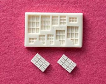 Chocolate bar mould / mold. Floree miniature food moulds / mold. Chocolate bars. 10 bars in one mold