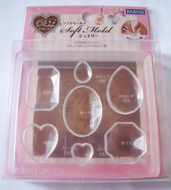Padico Soft Mould / Mold. Jewels. Fully flexible mold. Great with polymer / casting resin.