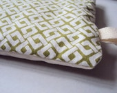 Eyepillow, Organic cotton with Lavender and Buckwheat, Green pattern