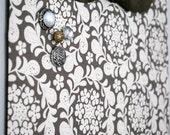 """Fabric Magnet Board (12""""x18"""") - Henna Garden Speckle"""