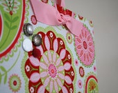 """Fabric Magnet Board (12"""" x 9"""") Pink Paisley"""