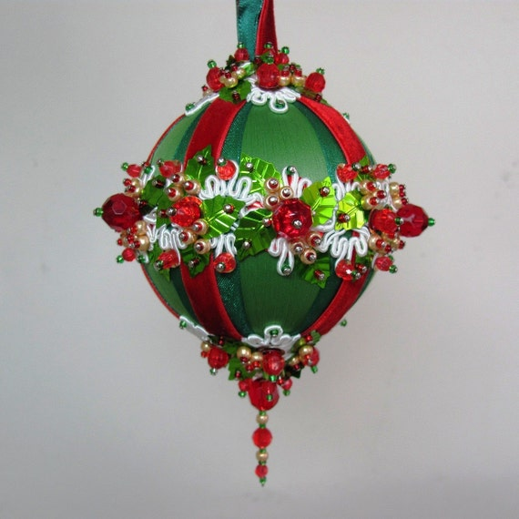 Items similar to beaded christmas ornament kit garland
