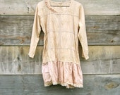 reserved for LeeRedders - Funky Eco Tattered Mori Girl Inspired Mini Dress