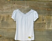 RESERVED for Marie - romantic Funky Baby Blue Eco Tattered Shirt