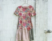 spring dress - romantic Funky  Eco Tattered Urban Chic Floral Mini Dress