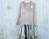 upcycled dress / womens dress / eco dress / pixie dress / fairy dress / romantic funky dress