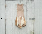 Cyber Monday Sale - coupon code - upcycled clothing / tattered dress / womens dress / eco dress / pixie dress / fairy dress