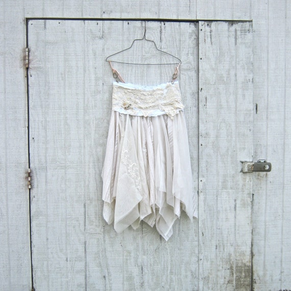 made to order The Eco Bride -  Ranch / Beach Style Wedding Pixie Long Skirt