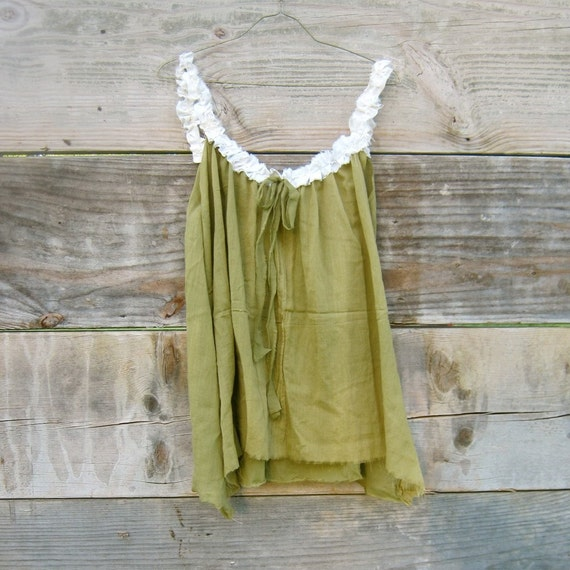 reserved for LeeRedders - Funky Eco Olive Green Tunic