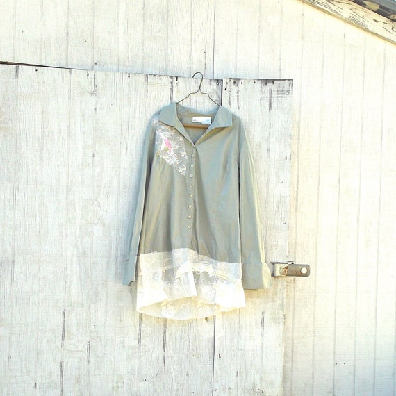 Funky Baby Blue Dress / Eco Dress / Upcycled Clothing By