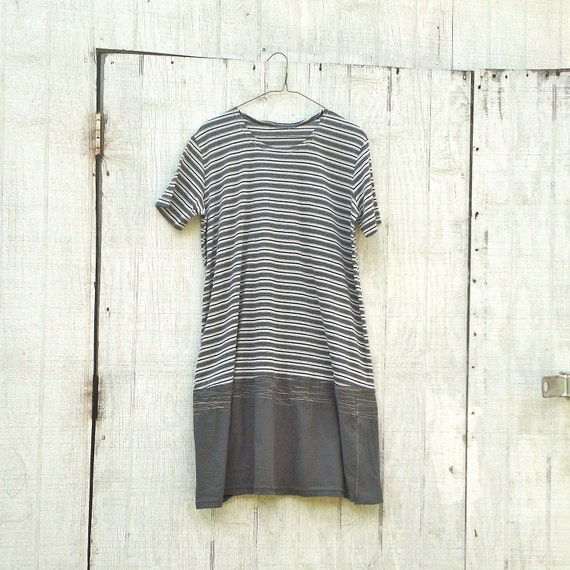 Eco Dress / Jersey Knit / Funky Upcycled Clothing / Tattered